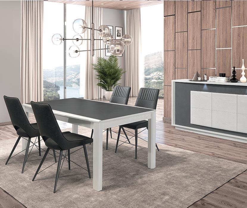 Ensemble table salle à manger, chaises et buffet proposés par Gaigneux Bain de Bretagne (35)